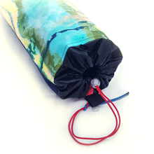 Load image into Gallery viewer, Organic Devolution Surf Mat Travel Bag Handmade Acid Dyed Custom Version 1 Front Detail View