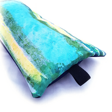 Load image into Gallery viewer, Organic Devolution Surf Mat Travel Bag Handmade Acid Dyed Custom Version 1 Rear Detail View