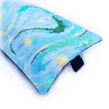 Load image into Gallery viewer, Organic Devolution Surf Mat Travel Bag Handmade Acid Dyed Custom Version 3 Rear Detail View