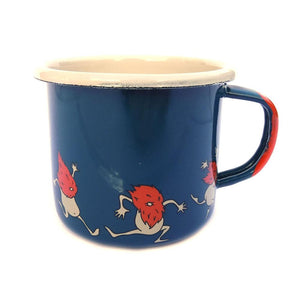 Organic Devolution Dancing Beards Enamelware Mug view 1
