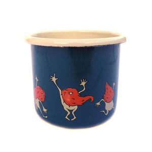 Organic Devolution Dancing Beards Enamelware Mug view 3