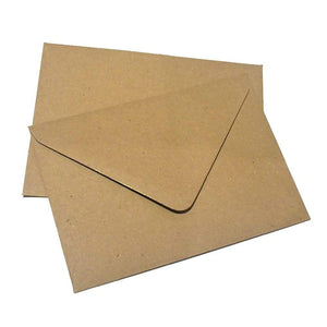 Brown kraft-fleck, recycled paper envelope