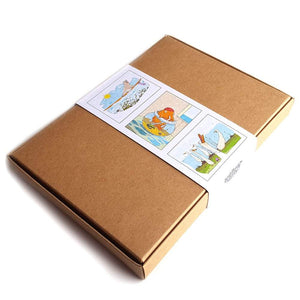 Organic Devolution Animal Life five note card box view of back