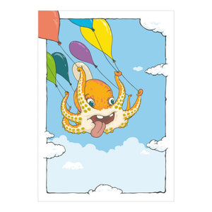 Ballooning for Beginners Note Card