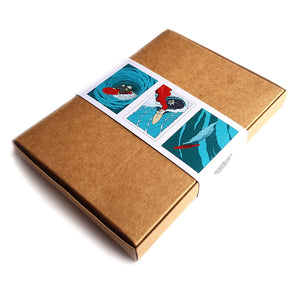 Organic Devolution Waveriders five note card box set back image
