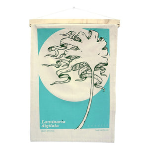Organic Devolution Oarweed Organic Cotton Tea Towel Art Hanging