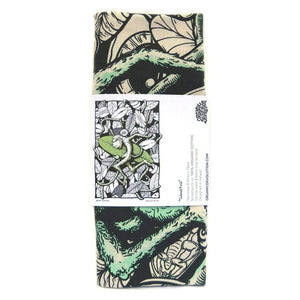 Sumatra Monkey Tea Towel Art Hanging folded