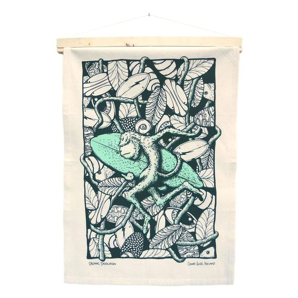 Sumatra Monkey Tea Towel Art Hanging