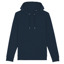 Load image into Gallery viewer, navy organic cotton relaxed fit hooded sweatshirt hoodie jellyfish cassette