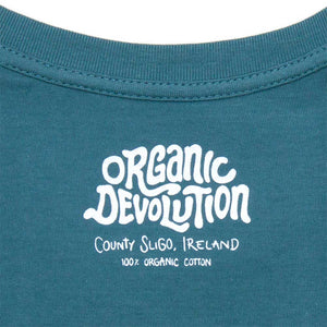 Organic Devolution Jellyfish Cassette Organic Cotton Short Sleeve T-Shirt neck print