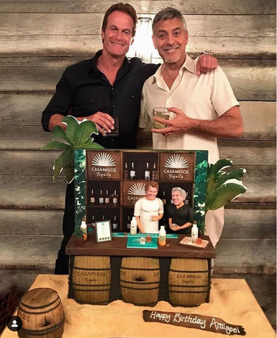 George Clooney with Casamigos Tequila