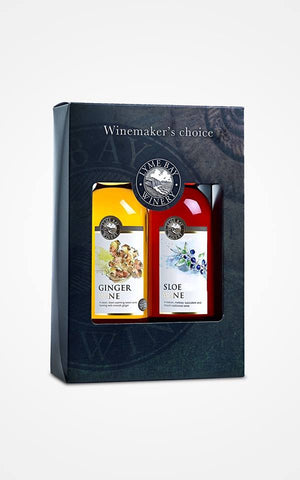 Lyme Bay Ginger Wine and Sloe Wine Gift Box