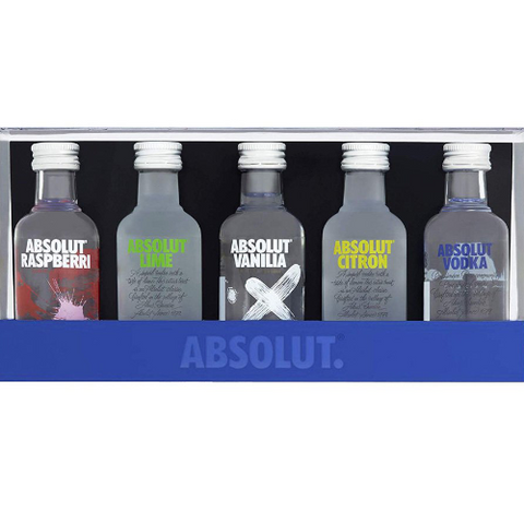 Absolut Fives Flavoured Vodka Gift Set