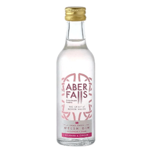 Aber Falls Rhubarb & Ginger Welsh Gin Miniature - 5cl