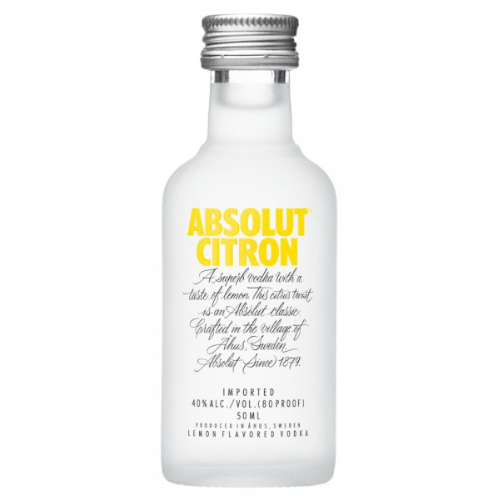 Absolut Citron Vodka Miniature - 5cl