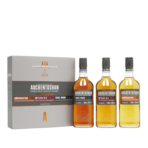 Auchentoshan Single Malt Scotch Whisky Gift Set - 3 x 20cl