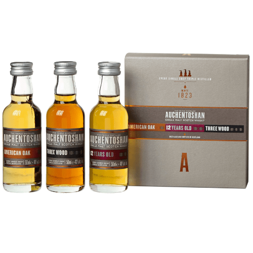 Auchentoshan Single Malt Whisky Miniature Gift Set - 3 x 5cl
