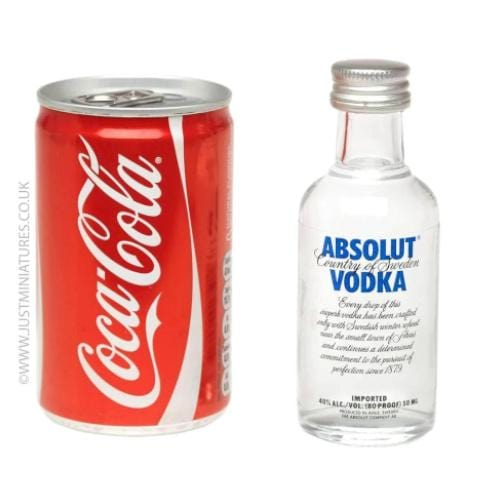Absolut Blue Vodka & Coke (Miniature & Mini Can Set)