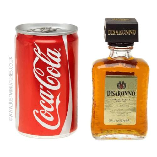 Amaretto & Coke (Miniature & Mini Can Set)