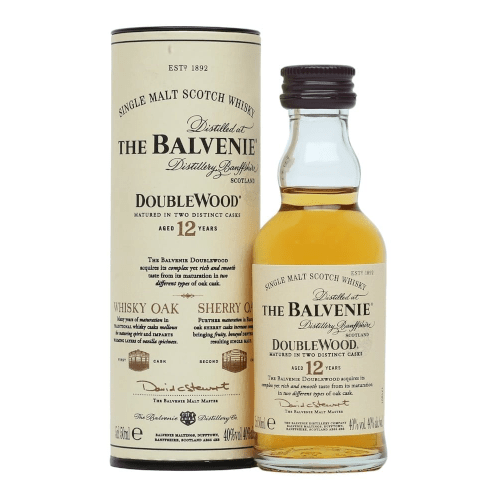 Balvenie Doublewood 12 yr Single Malt Scotch Whisky Miniature - 5cl