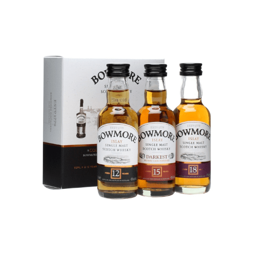 Bowmore Single Malt Scotch Whisky Miniature Gift Set - 3 x 5cl