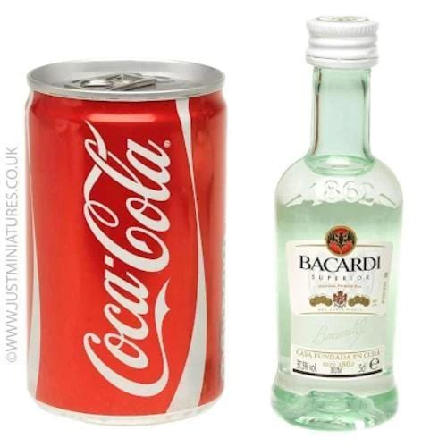 Just Miniatures-Bacardi Rum & Coke Mini Cans