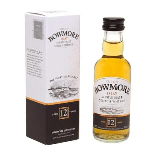 Bowmore 12 yr Single Malt Scotch Whisky Miniature - 5cl