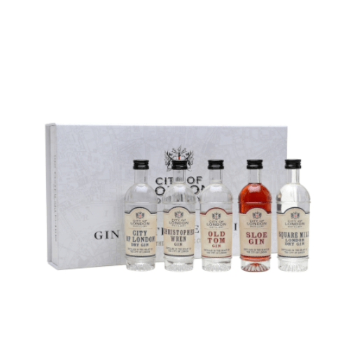 City of London Distillery Miniature Gin Taster Selection - 5 x 5cl