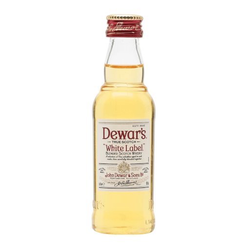 Dewar's White Label Blended Scotch Whisky Miniature - 5cl