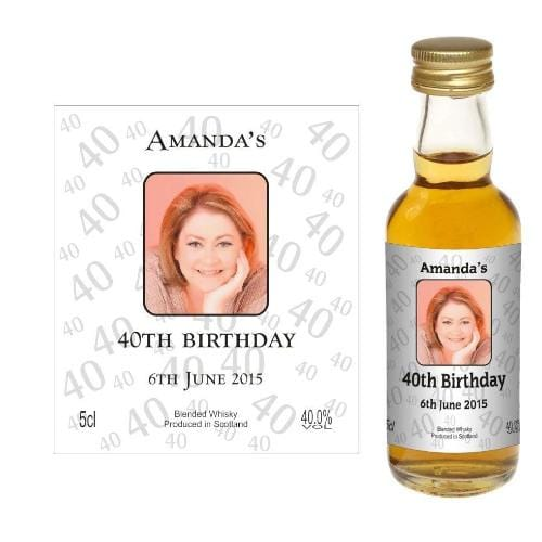 Design 04 (Personalised Birthday Card Wine or Spirit Miniature)