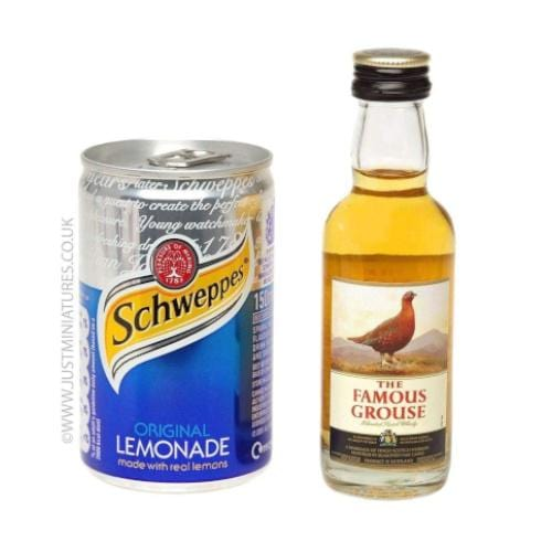 Famous Grouse Whisky & Lemonade (Miniature & Mini Can Set)