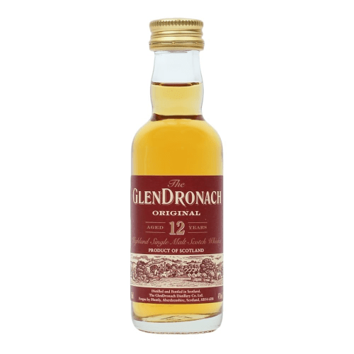 Glendronach 12 yr Single Malt Scotch Whisky Miniature - 5cl
