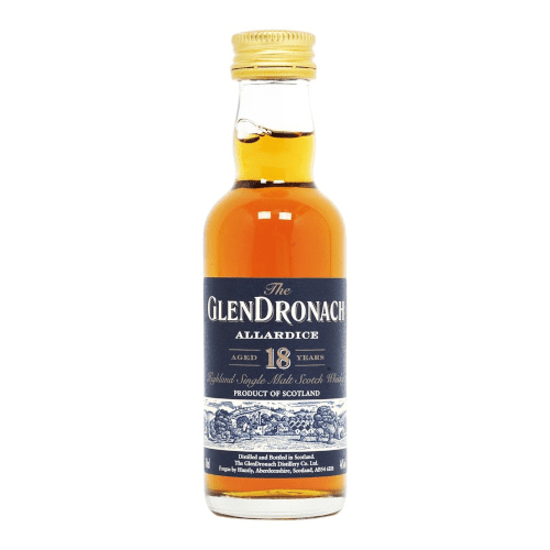 Glendronach Allardice 18 year Single Malt Scotch Whisky Miniature - 5cl