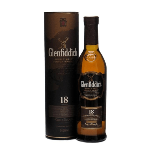 Glenfiddich 18 year old Single Malt Scotch Whisky - 20cl