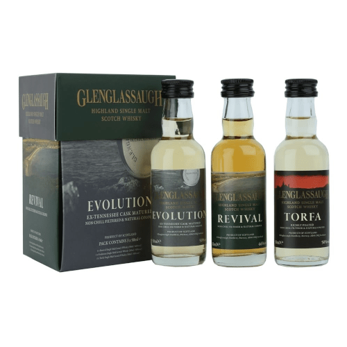 Glenglassaugh Single Malt Scotch Whisky Miniature Gift Set - 3 x 5cl