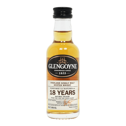 Glengoyne 18 year Single Scotch Malt Whisky Miniature - 5cl