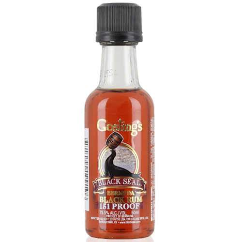 Goslings Black Seal 151 Bermuda Rum Miniature - 5cl