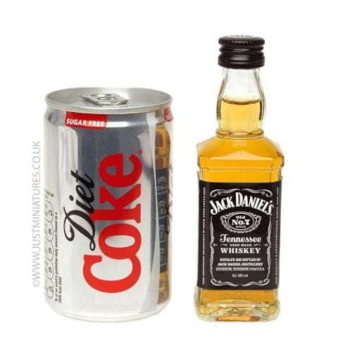 Jack Daniels Whiskey & Diet Coke Set (Miniature & Mini Can Set)