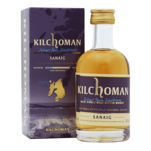 Kilchoman Sanaig Islay Single Malt Scotch Whisky Miniature - 5cl