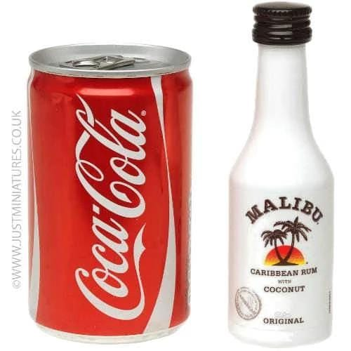 Malibu Coconut Rum & Coke (Miniature & Mini Can Set)
