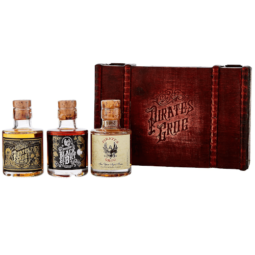 Pirates Grog Rum Treasure Chest Gift Set - 3 x 5cl