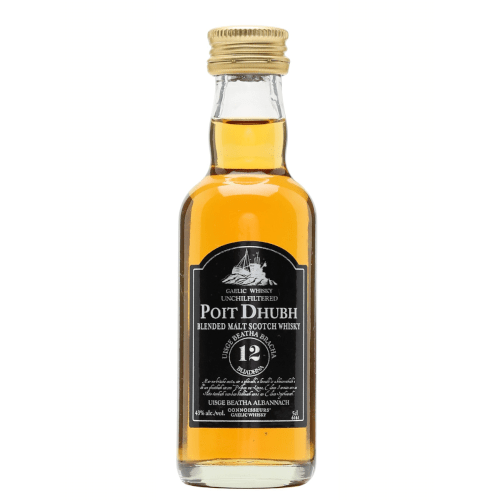 Poit Dhubh 12 year Gaelic Blended Malt Scotch Whisky Miniature - 5cl