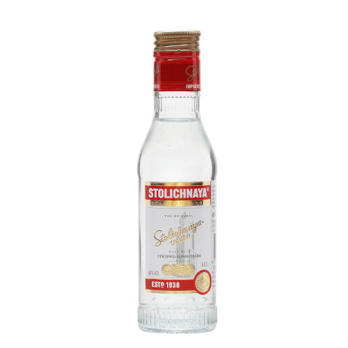 Stolichnaya Plain Vodka Miniature - 5cl