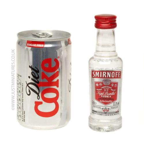 Smirnoff Red Label Vodka & Diet Coke (Miniature & Mini Can Set)