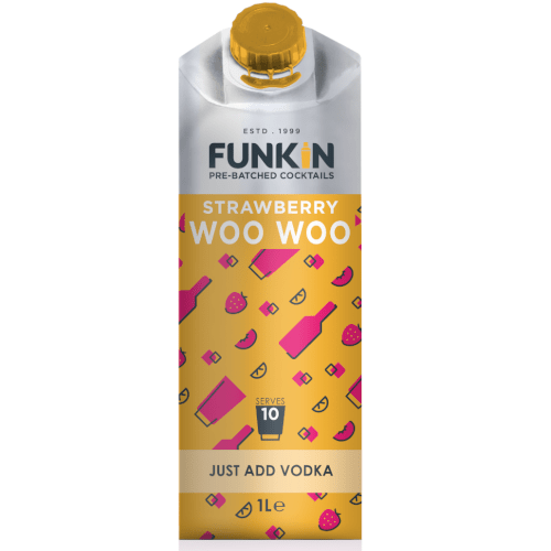 Funkin Strawberry Woo Woo Cocktail Mixer- 1 Litre