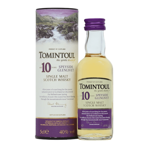 Tomintoul 10 year Single Malt Scotch Whisky Miniature - 5cl