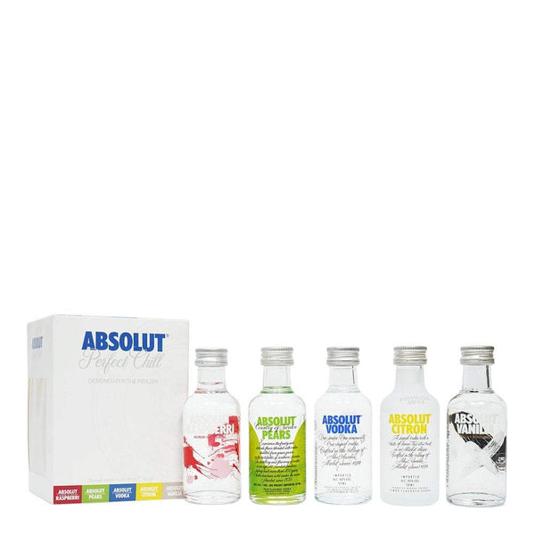Absolut Perfect Chill Freezer Vodka Miniature Gift Set - 5 x 5cl