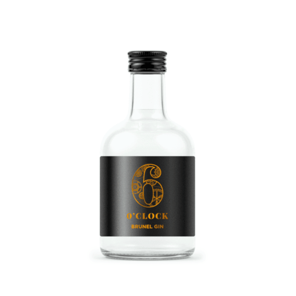 Just Miniatures:6 O'Clock Brunel Limited Edition Export Strength Gin Miniature - 5cl