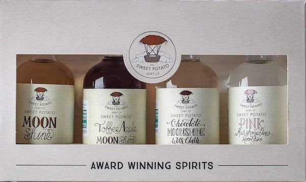 The Sweet Potato Moonshine Spirit Gift Pack - 4 x 5cl