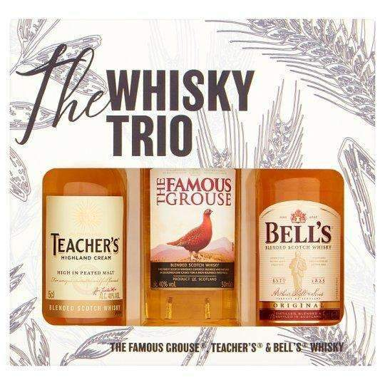 Just Miniatures:The Whisky Trio Miniature Selection Trio Gift - 3 x 5cl